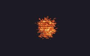 Picture fire, minimalism, bricks, bricks