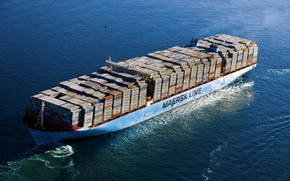 Picture The ship, Line, Cargo, A container ship, Container, Maersk, Maersk Line, Mary, Maersk, Mary Maersk