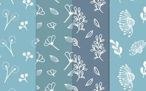Picture blue, blue, pattern