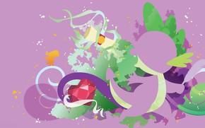 Picture white, purple, letter, crystal, green, pen, bird, magic, dragon, pony, bird, dragon, purple, crystal, spike, …