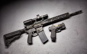 Picture gun, weapons, optics, glock, assault rifle