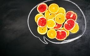 Picture Figure, Orange, Citrus, Slices, Grapefruit