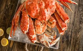 Picture lemon, crab, citrus, seafood