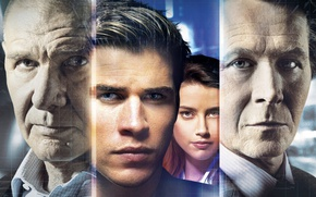 Picture face, actors, Thriller, poster, Amber Heard, Amber Heard, Harrison Ford, Harrison Ford, Liam Hemsworth, Gary ...