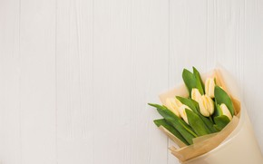 Picture flowers, bouquet, tulips, yellow, flowers, romantic, tulips, spring