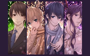 Picture collage, anime, art, guys, Vocaloid, Vocaloid, characters