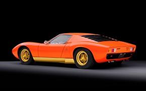Picture Auto, Lamborghini, Machine, Orange, 1971, Orange, Car, Supercar, Lamborghini Miura, P400, SVJ, Lamborghini Miura P400, …