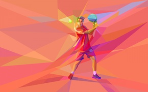 Wallpaper athlete, tennis, the game, vector