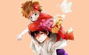 Picture anime, Katekyo Hitman REBORN!, Hibari Kyoya, Sawada Tsuyoshi