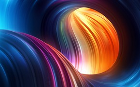 Wallpaper shape, digital art, rendering, colorful, colors, Abstract