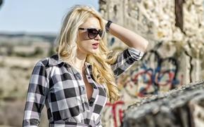 Picture sexy, model, hair, dress, glasses, Blondie, Natasha