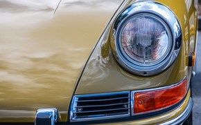 Picture headlight, Porsche, the front