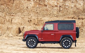 Picture red, SUV, profile, Land Rover, breed, 2018, Defender, V8, Defender Works V8, jubilee spezzare