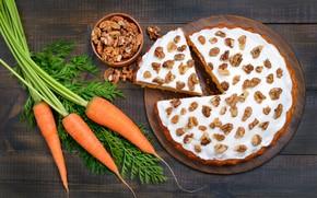 Picture pie, nuts, dessert, cakes, sweet, dessert, carrot