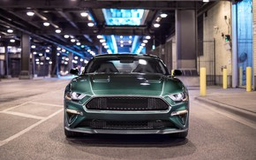 Picture Mustang, Ford, front view, 2018, Bullitt