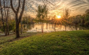 Wallpaper nature, morning, dawn