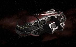 Picture space, ship, stars, Huaxia Battleship, equipment