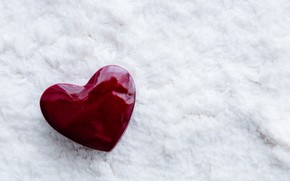 Picture snow, minimalism, heart