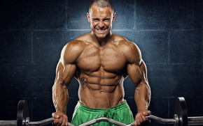 Picture pose, tattoo, muscle, muscle, rod, tattoo, press, bodybuilder, abs, bodybuilder, background wall