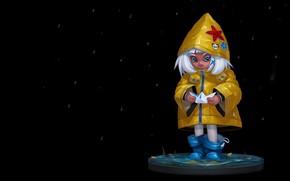 Picture the rain, autumn, mood, art, children's, boat, paper boat, Stanislav Novarenko