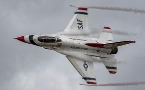 Picture flight, fighter, cabin, Fighting Falcon, F-16C