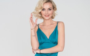 Wallpaper smile, singer, Polina Gagarina