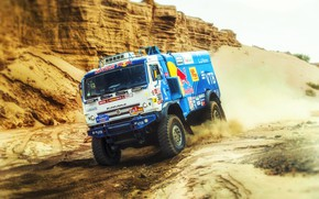 Picture Sport, Truck, Race, Master, Russia, Kamaz, Rally, Dakar, KAMAZ-master, Dakar, Rally, KAMAZ, 507, The roads, …