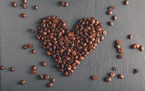 Picture Love, Heart, Holiday, Coffee beans, Valentine's day