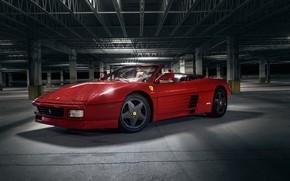 Picture red, sports car, Ferrari 348