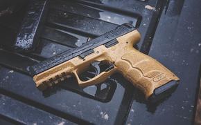 Wallpaper gun, drops, VP9, H&K