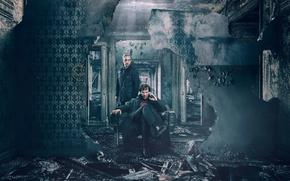 Wallpaper John, Martin Freeman, Benedict Cumberbatch, Sherlock, John Watson, Sherlock Holmes, TV series, Dr. John Watson, ...