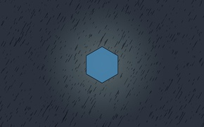 Picture blue, grey, Minimalism, cube, 6 faces, hexane