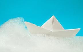 Picture foam, boat, origami