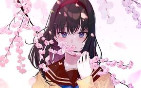 Picture look, girl, flowers, art, kayahara