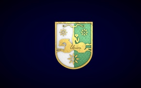 Picture blue, gold, rider, coat of arms, Abkhazia, abkhazian
