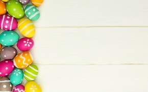Picture colorful, wood, Easter, Easter, happy, the painted eggs, spring, holiday, eggs