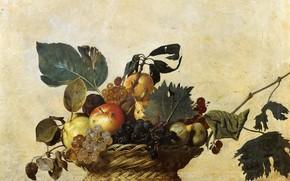 Picture picture, still life, Caravaggio, A Fruit basket