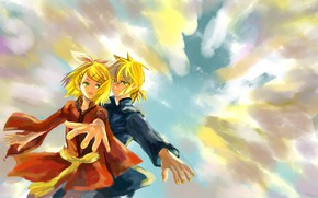 Picture the sky, figure, anime, art, Vocaloid, Vocaloid, characters