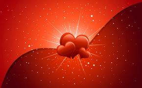 Picture heart, postcard, Valentine's Day
