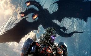 Wallpaper cinema, film, robot, movie, Transformers, Transformers: The Last Knight, Optimus Prime, dragon, mecha