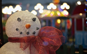 Picture background, scarf, snowman