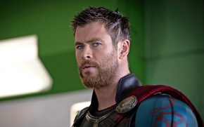 Picture cinema, armor, Marvel, movie, face, Thor, film, warrior, Chris Hemsworth, god, powerful, strong, muscular, cape, …