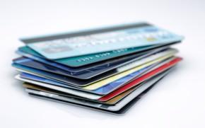 Picture plastic, banks, credit cards, debit