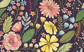 Wallpaper seamless, pattern, seamless, Flowers, Floral, pattern