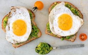 Picture Tomatoes, Breakfast, Sandwiches, Scrambled eggs, Bread