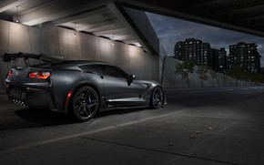 Wallpaper rear view, 2019, Corvette, ZR1, Chevrolet