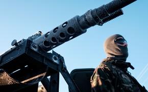 Picture cold, soldiers, heavy machine gun