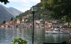 Picture Home, Mountains, Italy, Building, Italy, Mountains, Italia, Lombardia, Lombardy, Brescia, Sulzano, Sulzano, Lake Iseo, Lago ...