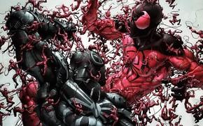 Picture comic, spider man, Marvel Comics, Clone, Flash Thompson, Agent Venom, Scarlet spider, Cranage, Cain, Minimum …