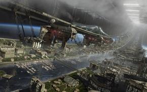 Picture building, construction, panorama, Orbital 03, Mega Rail Station